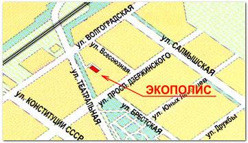 Часть карты г.Оренбурга